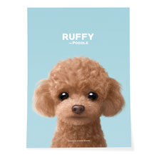 Ruffy the Poodle Art Poster