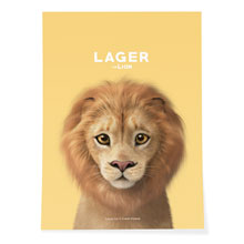 Lager the Lion Art Poster