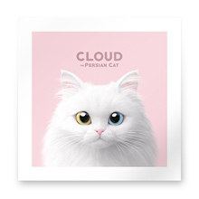 Cloud the Persian Cat Art Print
