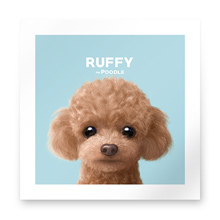 Ruffy the Poodle Art Print