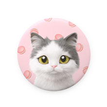 Dal's Macaroon Mirror Button