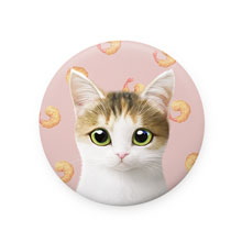 Dari's Fried Shrimp Mirror Button