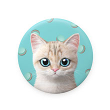 Dione's Macaroon Mirror Button