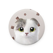 Duna's Choco Cereal Mirror Button