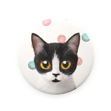 Jelly's Macaroon Mirror Button