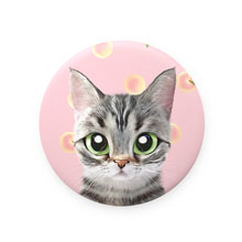 Momo the American shorthair cat's Peach Mirror Button