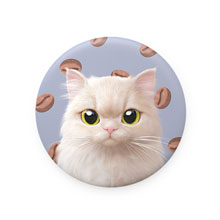 Nini's Coffee Bean Bread Mirror Button