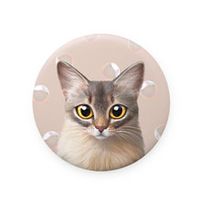 Rose's Bubbles Mirror Button