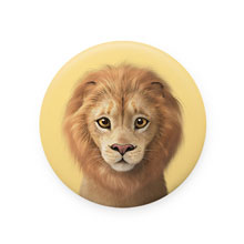 Lager the Lion Mirror Button