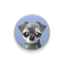 Atom the Schnauzer Pin Button 44mm