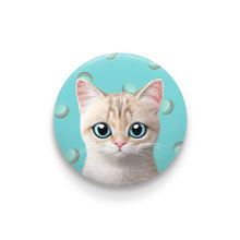 Dione's Macaroon Pin Button