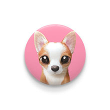 Rico the Welsh Corgi Pin Button 44mm
