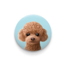 Ruffy the Poodle Pin Button