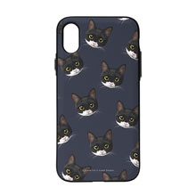 Byeol the Tuxedo Cat Face Patterns Door Bumper Case