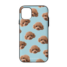 Ruffy the Poodle Face Patterns Door Bumper Case