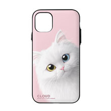 Cloud the Persian Cat Peekaboo Door Bumper Case