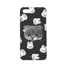 Fran's White Rabbit Face Case