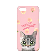 Momo the American shorthair cat's Peach Script Logo Case