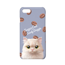 Nini's Coffee Bean Bread Script Logo Case