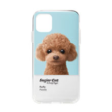 Ruffy the Poodle Colorchip Clear Jelly Case