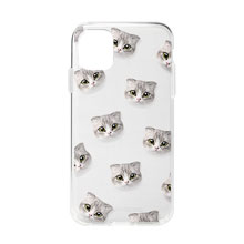 Momo Mumohan Face Patterns Clear Jelly Case