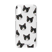 Tuxedo Face Patterns Clear Jelly Case