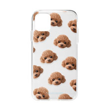 Ruffy the Poodle Face Patterns Clear Jelly Case