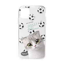 Momo Mumohan's Soccer Ball New Patterns Clear Jelly Case