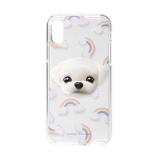 Chichi's Rainbow Face Clear Jelly Case