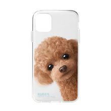 Ruffy the Poodle Peekaboo Clear Jelly Case