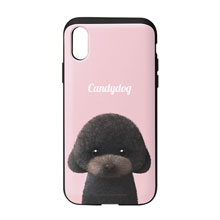 Choco the Black Poodle Simple Slide Case