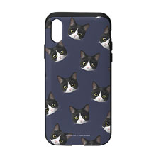 Tuxedo Face Patterns Slide Case