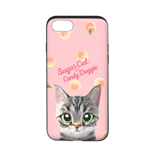 Momo the American shorthair cat's Peach Script Logo Slide Case