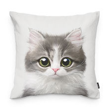Dan the Kitten Throw Pillow