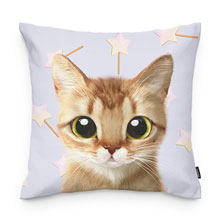 Byeol's Star Cane Throw Pillow
