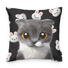 Fran's White Rabbit Throw Pillow