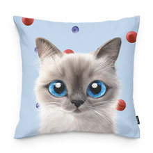 Momo's Blueberry & Strawberry Throw Pillow