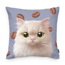 Nini's Coffee Bean Bread Throw Pillow