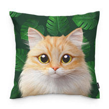 Nova's Monstera Throw Pillow
