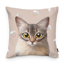 Rose's Bubbles Throw Pillow