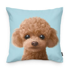 Ruffy the Poodle Throw Pillow