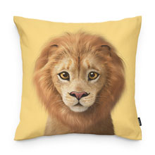 Lager the Lion Throw Pillow