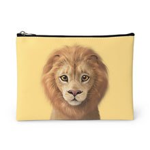Lager the Lion Leather Pouch