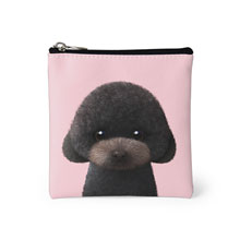 Choco the Black Poodle Mini Pouch
