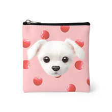 Dongdong's Apple Face Mini Pouch