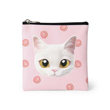 Santo's Macaroon Face Mini Pouch