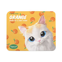 Andy's Orange New Patterns Mouse Pad