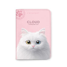 Cloud the Persian Cat Passport Case