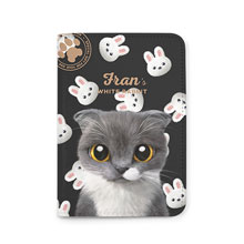 Fran's White Rabbit Passport Case