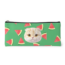 Achi's Watermelon Face Leather Pencilcase